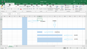 Kurs Excel Podstawy - Budowa arkusza - kolumna, wiersz, zakres, komórka