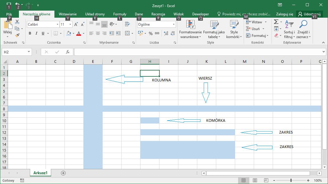 Budowa Arkusza Excel Datatalkpl
