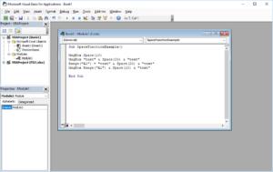 Funkcje VBA Excel – Funkcja Space VBA