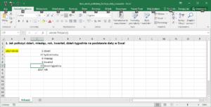 Funkcje daty Excel