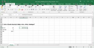 Excel funkcje daty i czasu