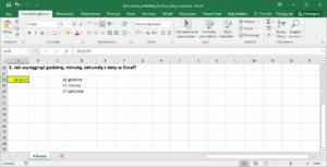 Funkcje czasu Excel
