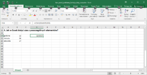 Excel funkcje daty i funkcje czasu