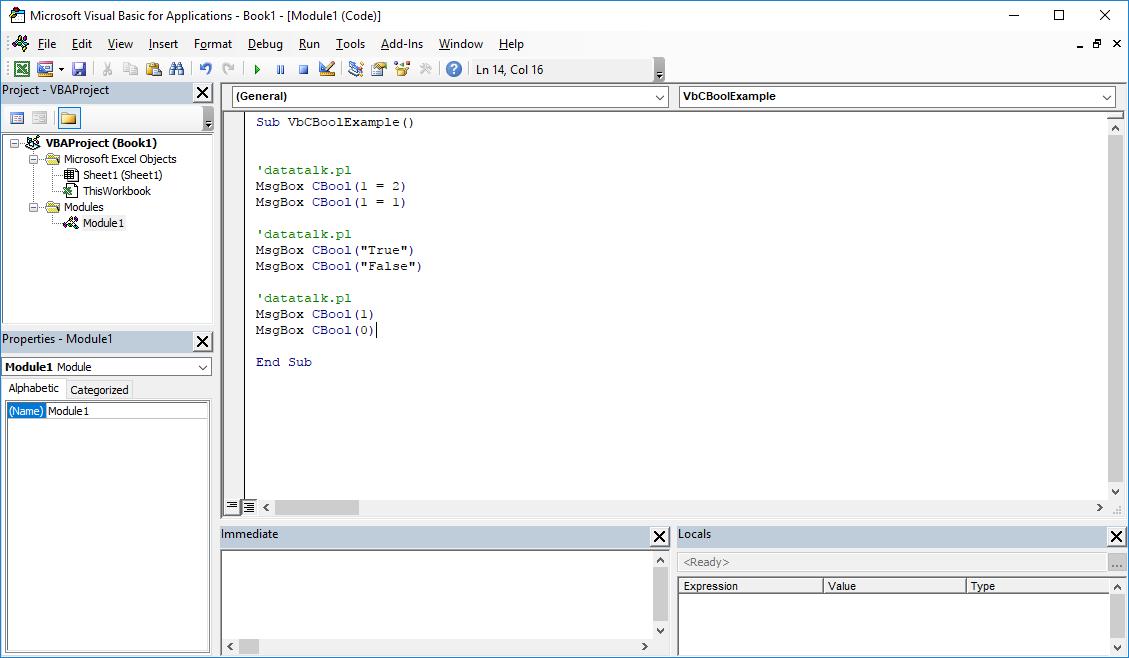 Funkcje VBA Excel – Funkcja CBool VBA