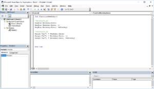 Funkcje VBA Excel – Funkcja Weekday VBA