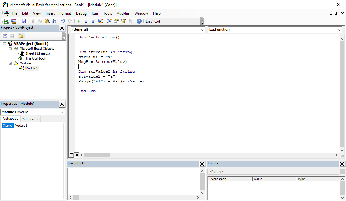 Funkcje VBA Excel – Funkcja Asc VBA