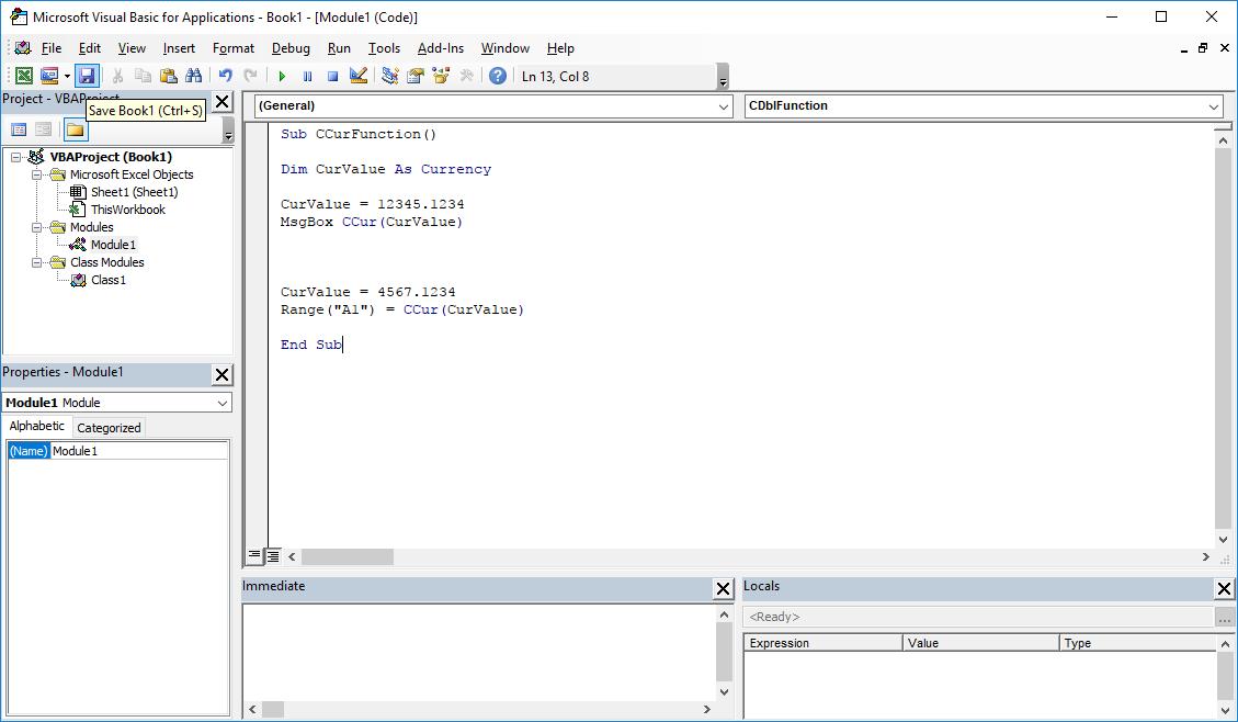 Funkcje VBA Excel – Funkcja CCur VBA
