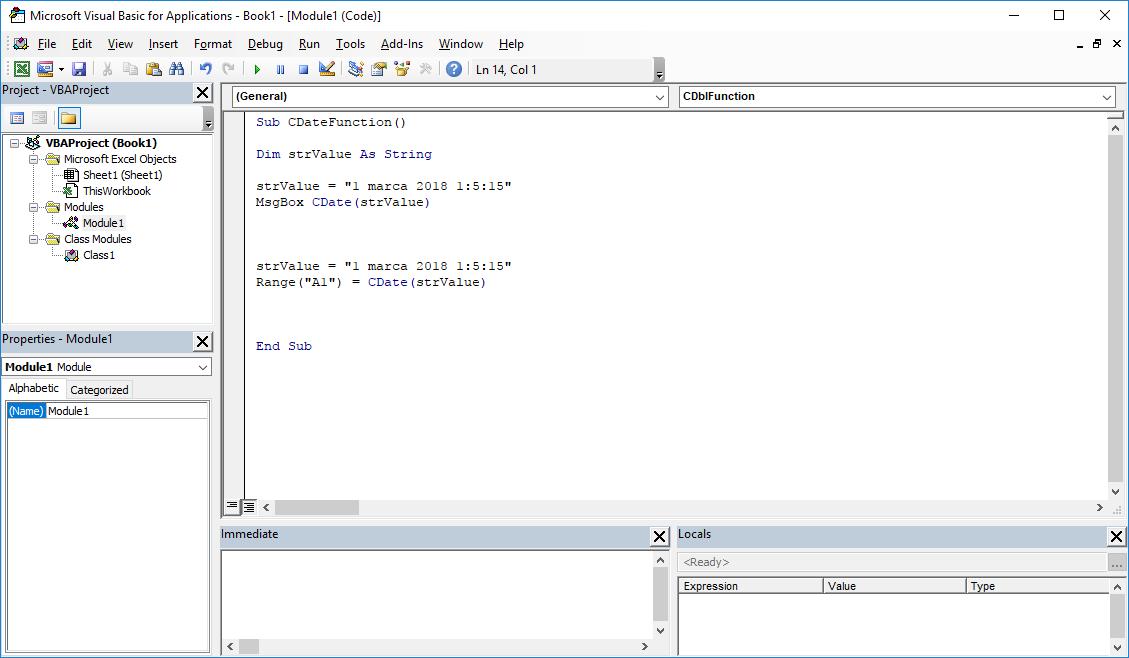 Funkcje VBA Excel – Funkcja CDate VBA