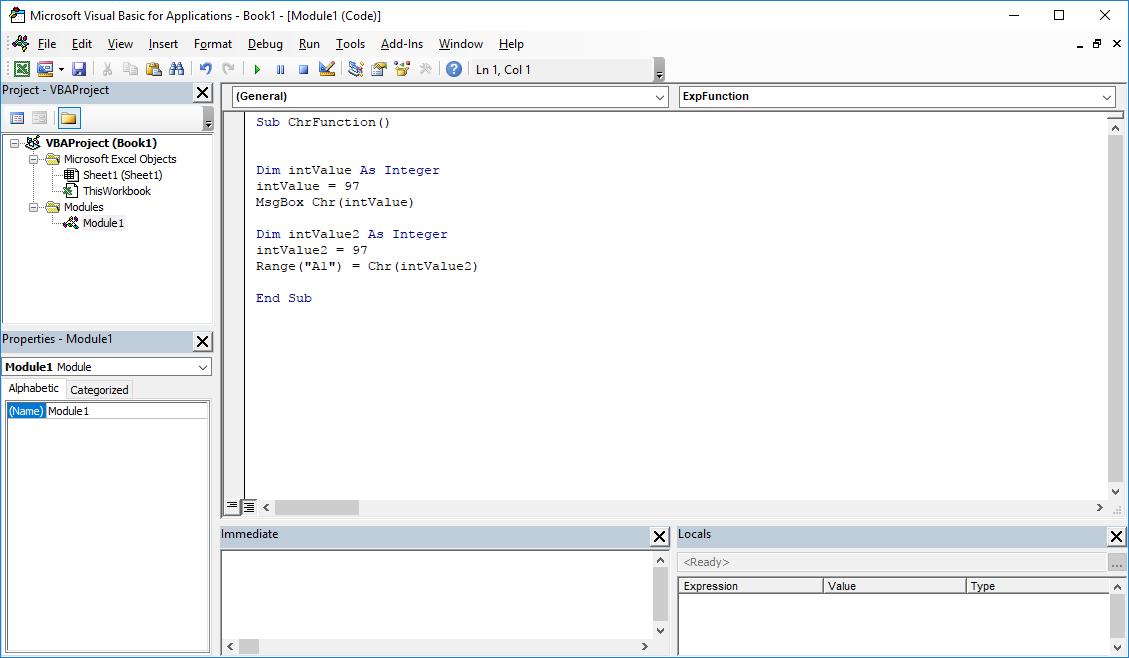 Funkcje VBA Excel – Funkcja Chr VBA