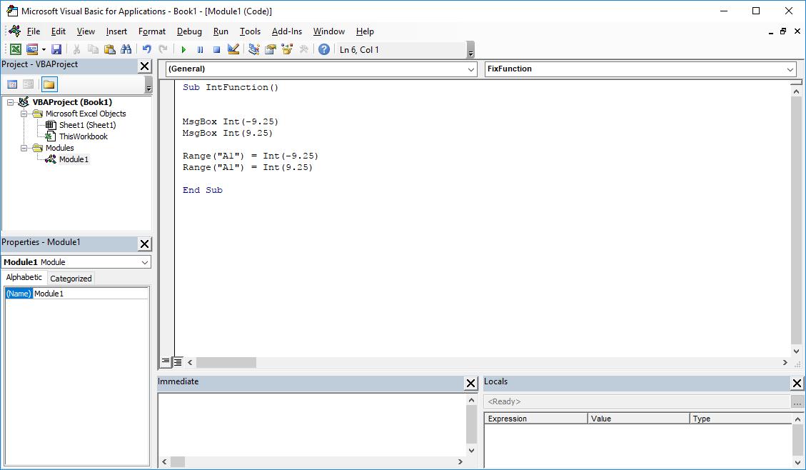 Funkcje VBA Excel – Funkcja Int VBA