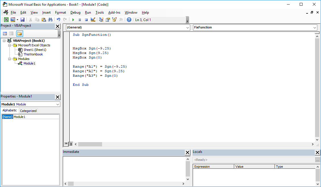 Funkcje VBA Excel – Funkcja Sgn VBA