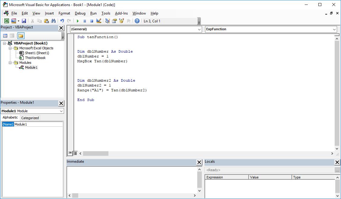 Funkcje VBA Excel – Funkcja Tan VBA