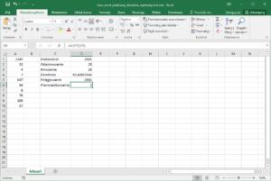 Kurs Excel Podstawy - działania arytmetyczne w Excel