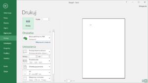 Kurs Excel Podstawy - Excel drukowanie