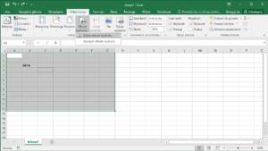 Kurs Excel Podstawy - Drukowanie Excel obszar wydruku