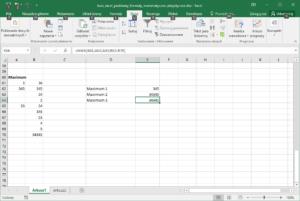 Kurs Excel podstawy - Funkcje Matematyczne - Excel Maksimum