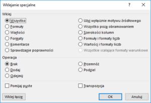 Kurs Excel Podstawy - Wklejanie Excel