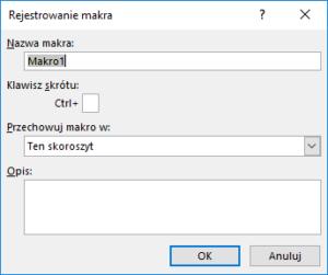 Kurs Excel Podstawy - Jak nagrać makro