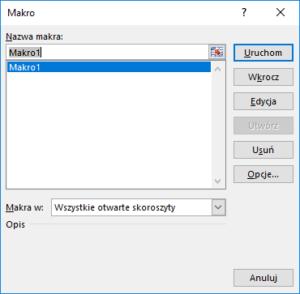 Kurs Excel Podstawy - Jak uruchomić makro