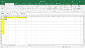 Kurs Excel Podstawy - adresowanie mieszane - Tabliczka mnożenia Excel