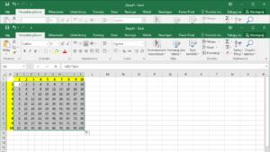 Kurs Excel Podstawy - Tabliczka mnożenia w Excel jednym wzorem