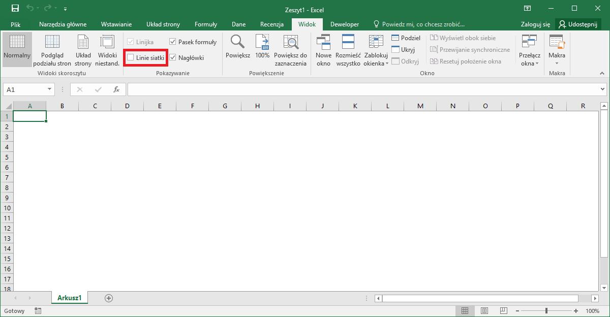 Excel porady - białe tło