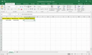 Excel przykłady - Jak obliczyć dni robocze w Excel