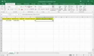 Excel przykłady - Dni robocze bez świąt w Excel