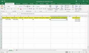 Excel przykłady - dni robocze. Wiele dni świątecznych