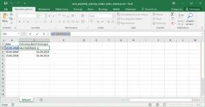 Excel przykłady - Jak obliczyć pierwszy dzień miesiąca w Excel