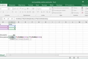 Excel przykłady - Średnia ważona w Excel